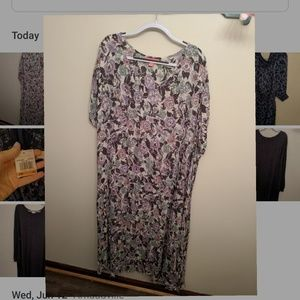 Women Within floral crinkle dress